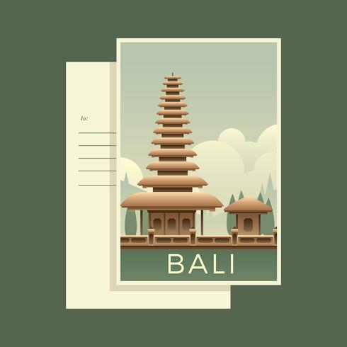 Postcards Of The World Bali Vector
