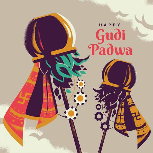 Gudi Padwa Celebration Of India Illustration