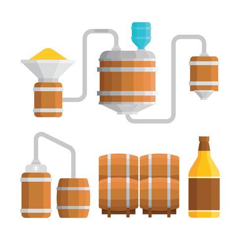 Ilustración de proceso de fabricación de Bourbon