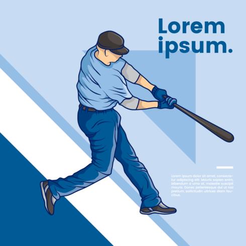 Jogador de beisebol abstrato