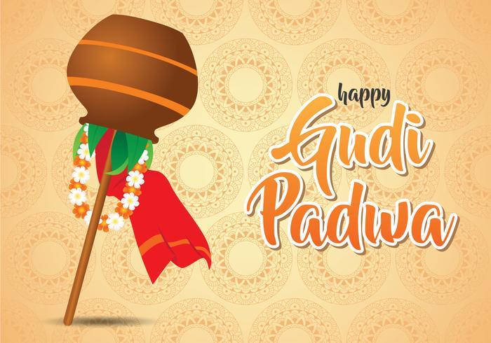 Glückliche Illustration Gudi Padwa