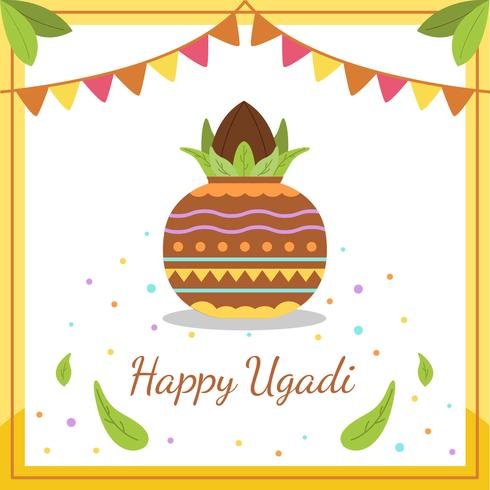 Happy Ugadi Vector