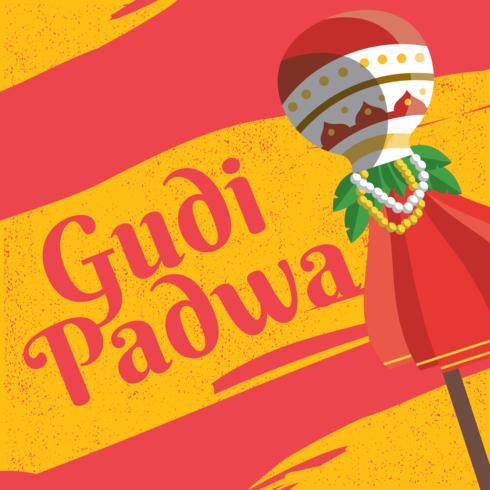 Tarjeta de felicitación de Gudi Padwa