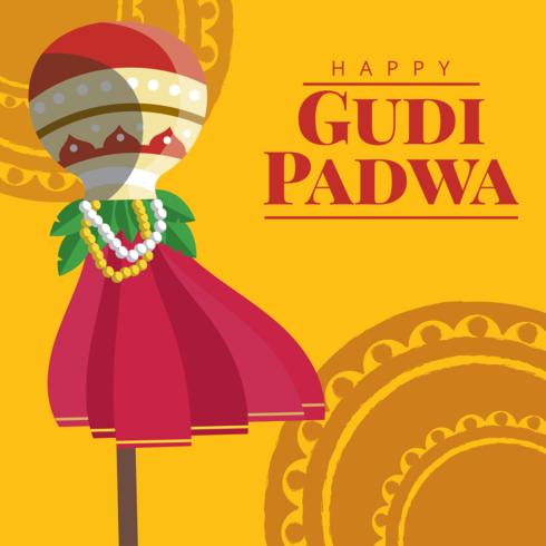 Gudi padwa greeting card download free vector art stock graphics gudi padwa greeting card m4hsunfo
