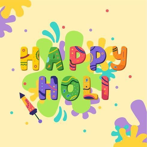 Joyeux Holi Color Festival vecteur