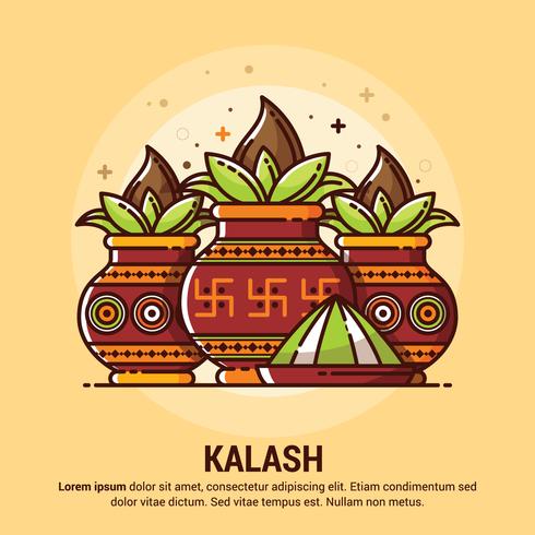 Ilustración de cobre Kalash