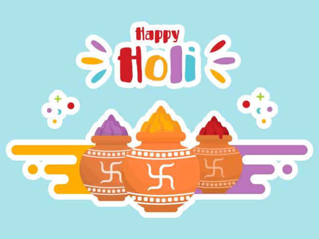 Glücklicher Holi-Vektor