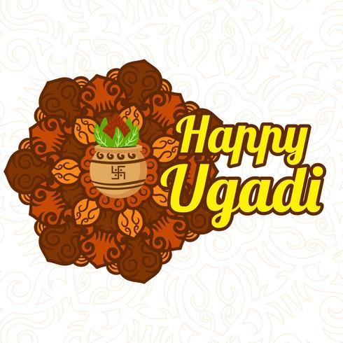 Feliz fondo Ugadi