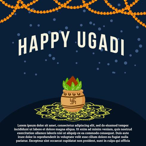 Happy Ugadi Background