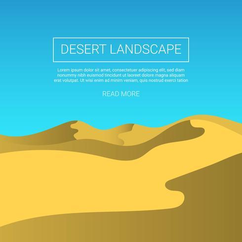 Fondo piano di vettore del paesaggio del deserto