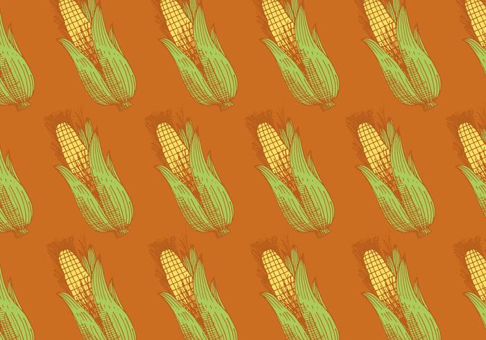 retro corn pattern