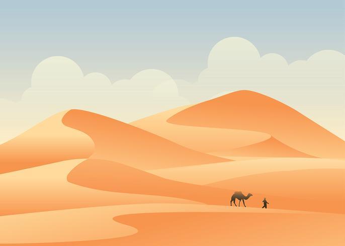 Afrika-Wüsten-Landschaftsvektor