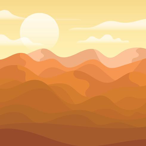 Desert Landscape Illustration - Download Free Vector Art, Stock Graphics & Images