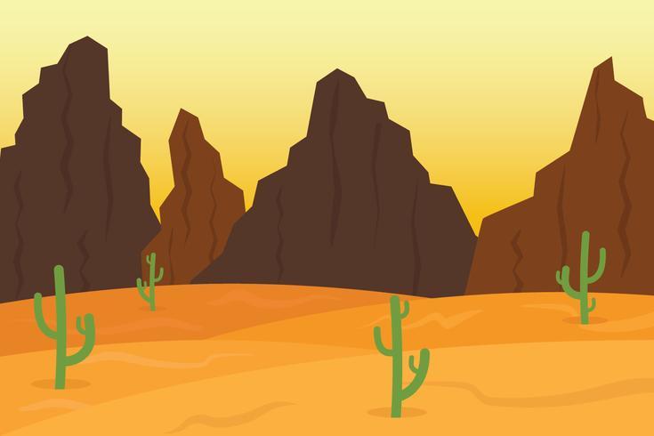 Desert Valley Landscape vector
