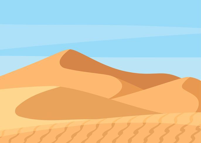 Sahara-Wüsten-Landschaftsvektor