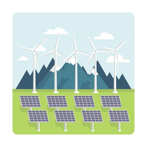 Energía verde vector