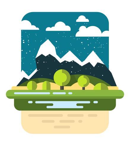 Flaches Landschaftsdesign