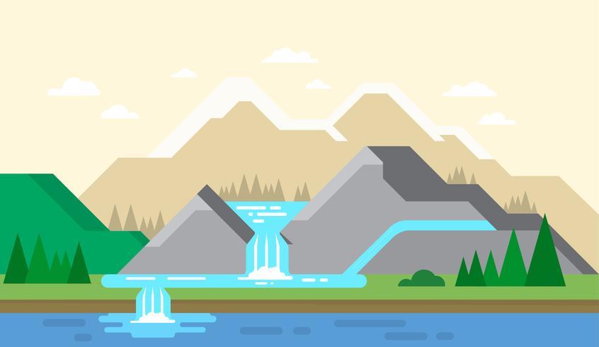 Vlakke landschapsontwerpen