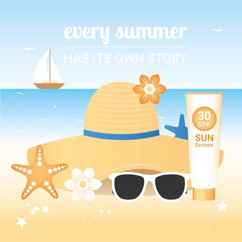 Vector Summer Holiday Travel Elements