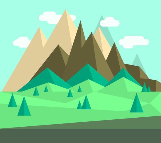design de paisagem plana