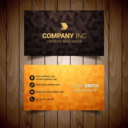 Orange And Gold Business Card
