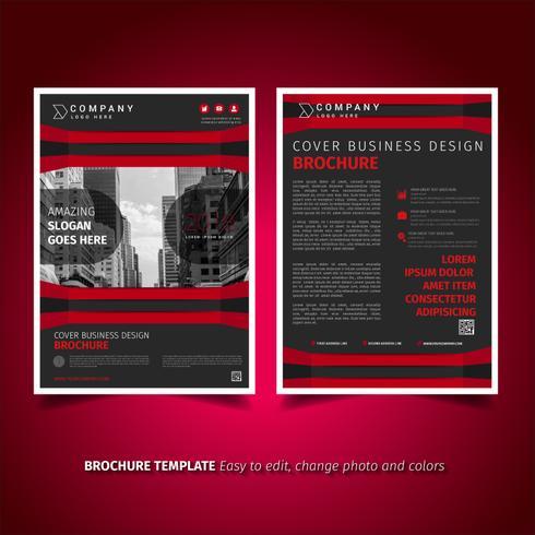 Design de flyer de brochures commerciales