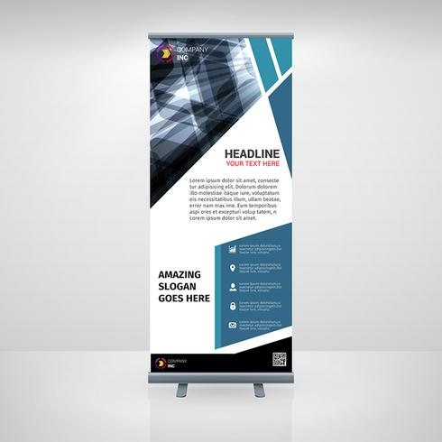 Blue Business Roll Up Banner