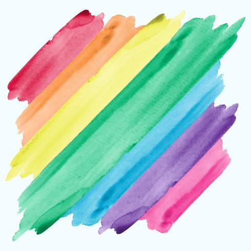 Abstract Aquarela Rainbow Painting Background vetor