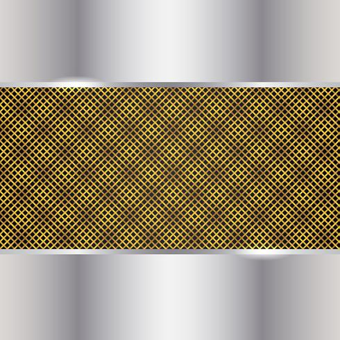 Gold And Silver Metal Background