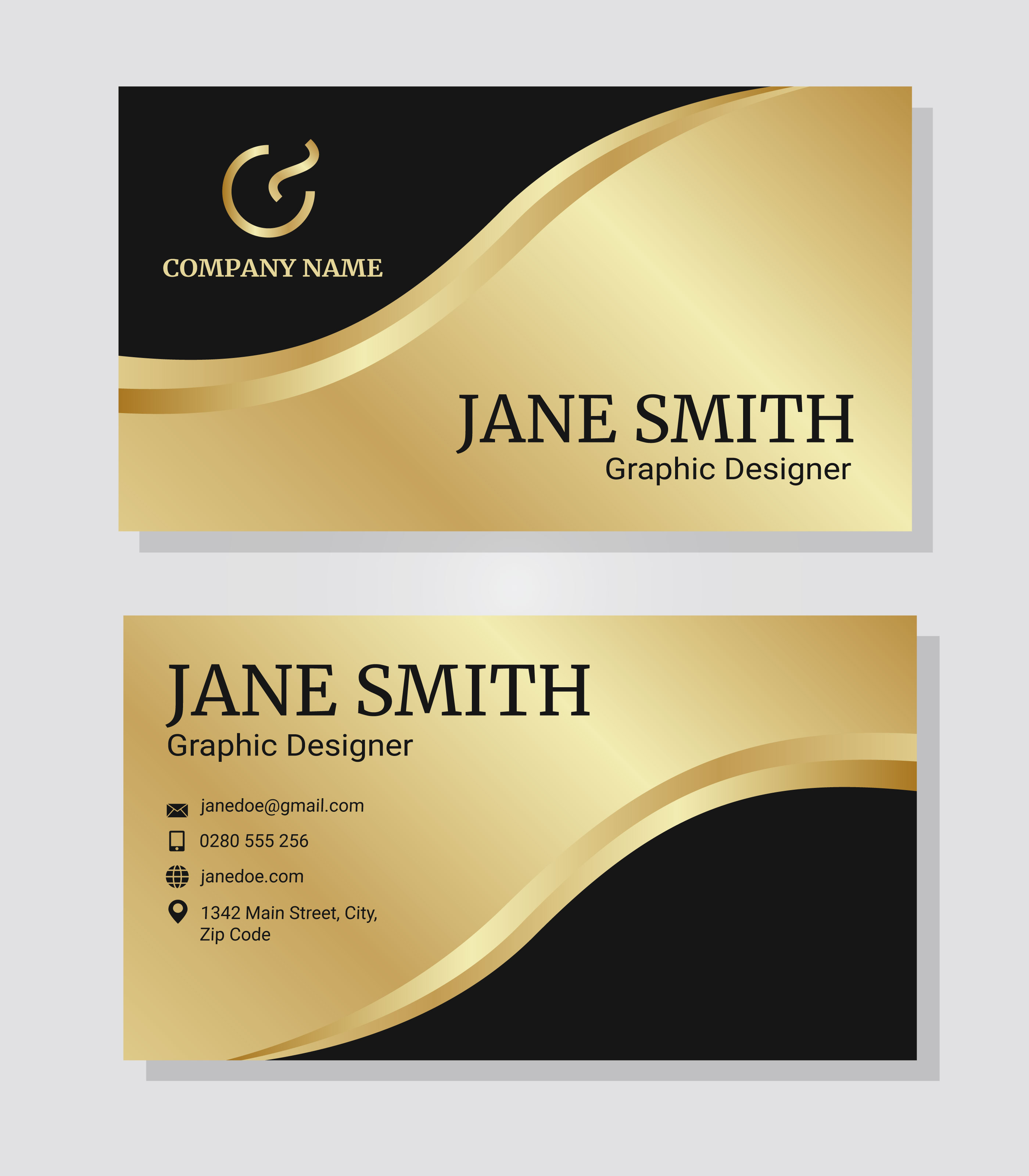 Gold Corporate Business Card Template - Download Free ...