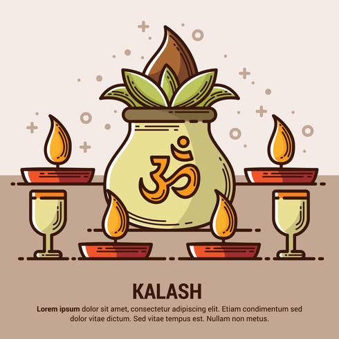 Illustration de kalash de cuivre