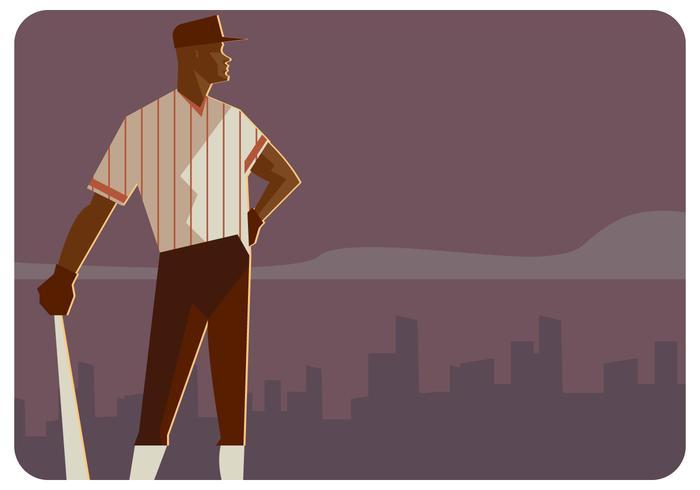 Baseball-Spieler-Vektor