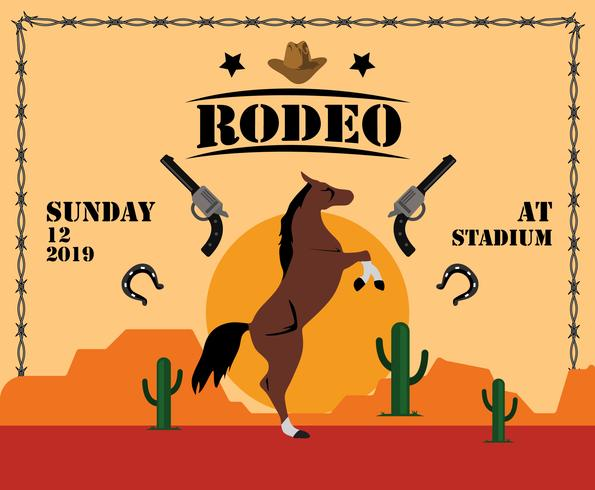 vector de plantilla de flyer de rodeo