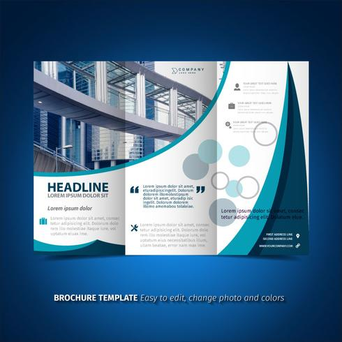 Blue light trifold Brochure