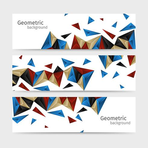Geometric Background Abstract Header Set