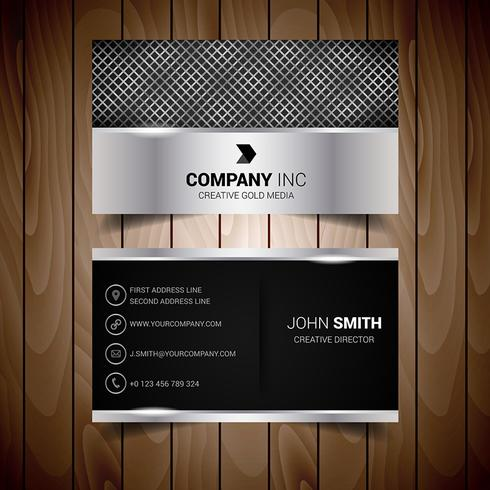 Silver Abstract Business Card