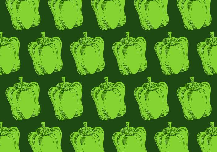 retro green pepper pattern