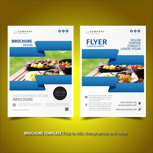 conception de flyer business brochure