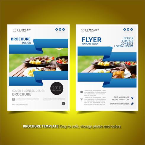 Folleto de diseño de folleto de negocios