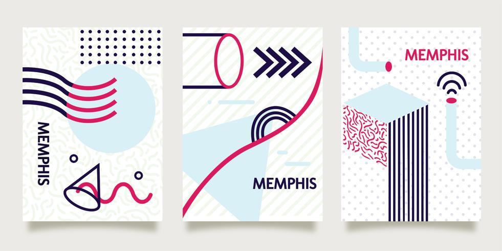 Memphis-Hintergrund auf Papiervektor
