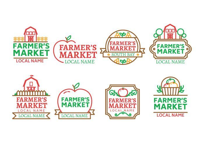 Bauernmarkt Logo Vektor