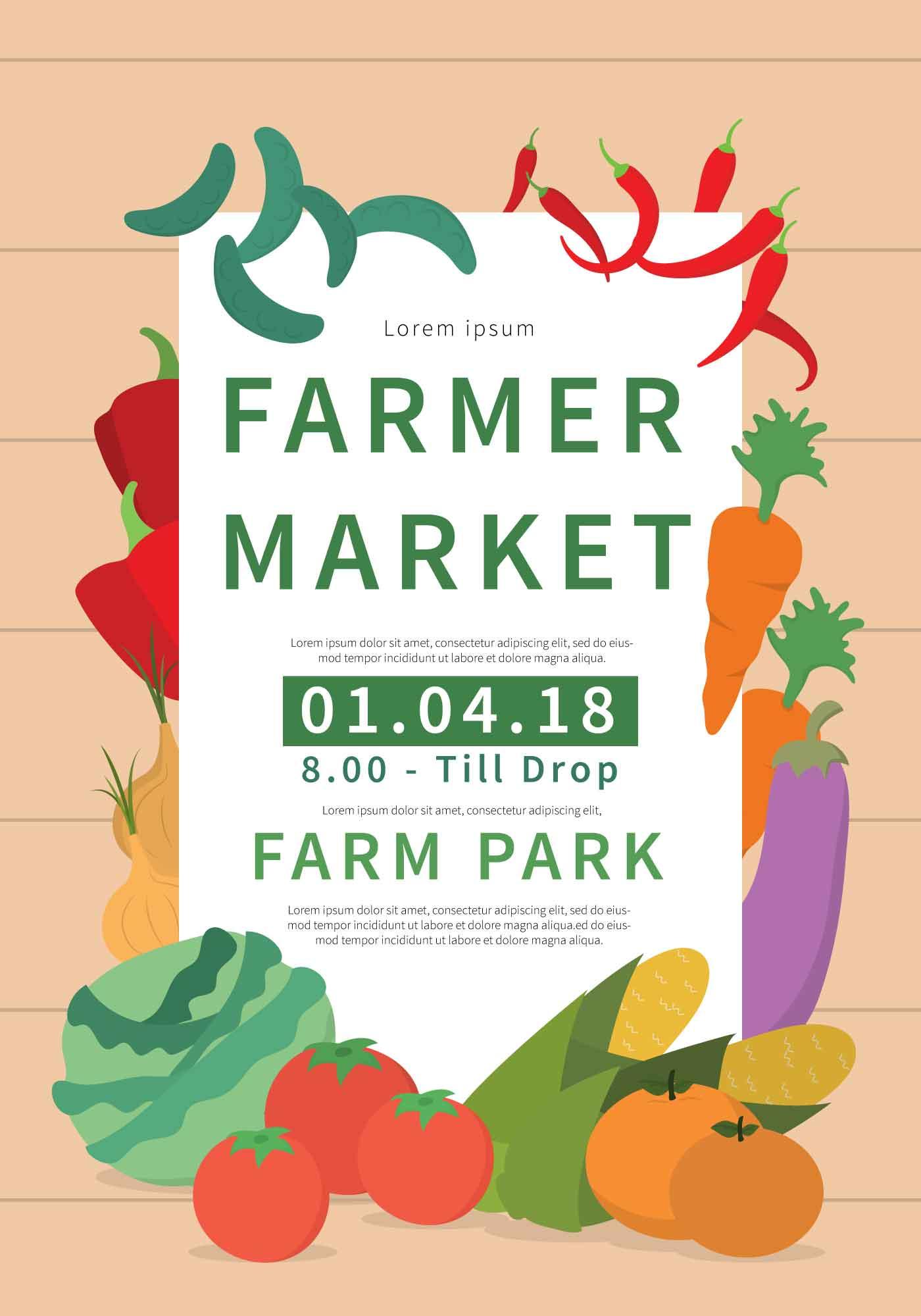 Farmers Market Flyer Free Vector Art - (79 Free Downloads)