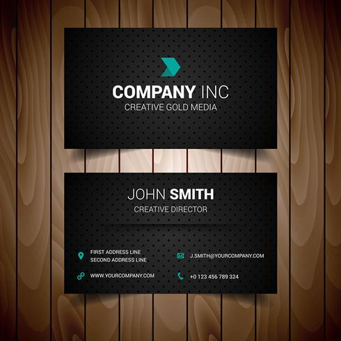 Black Dotted Corporate Business Card