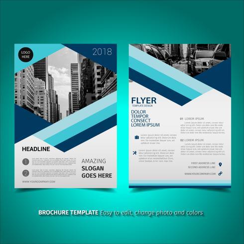 Gefütterte Broschüre Flyer Design