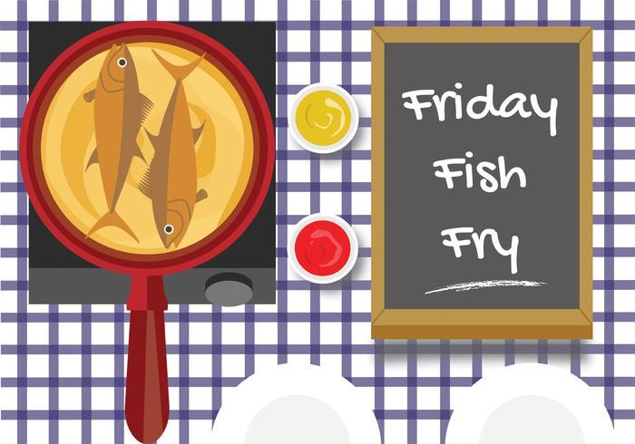 Vendredi poisson frit Vector Design