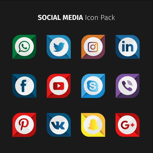 Rounded Square Social Media Collection