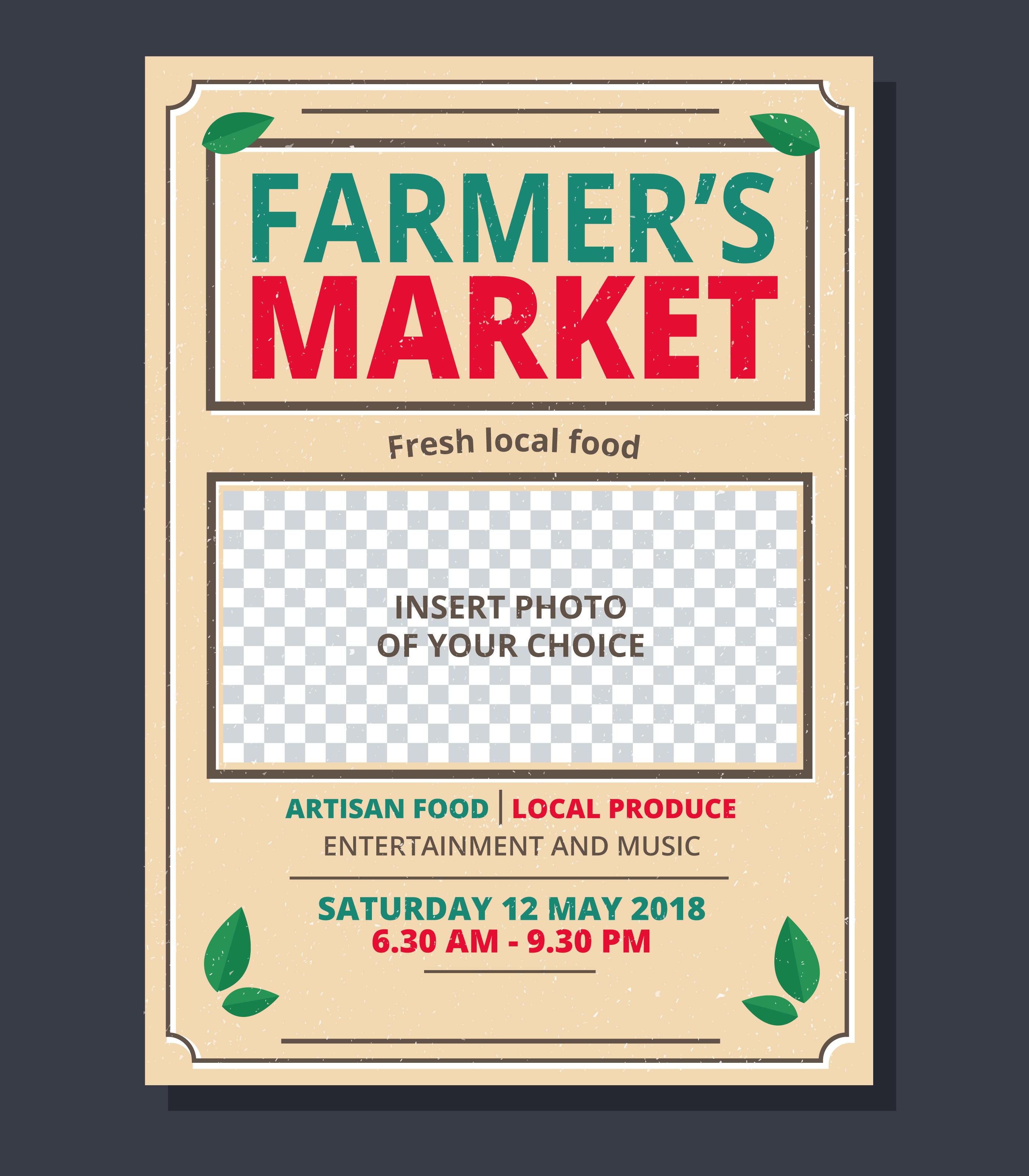 farmer u0026 39 s market flyer template