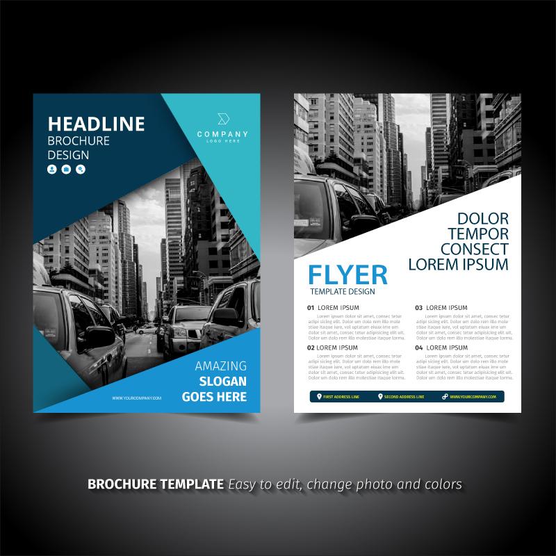 Elegant brochure design download free vector art stock for Classy brochure design