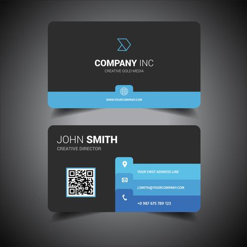 Black Colored Business Card