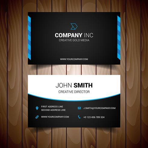 Blue And Black Elegant Business Card